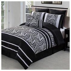 Black-Zebra-Comforter-Set