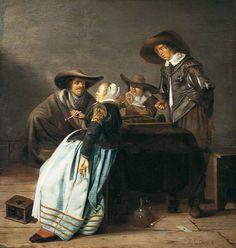 'Backgammon' Johan le Ducq (Dutch) circa 1649