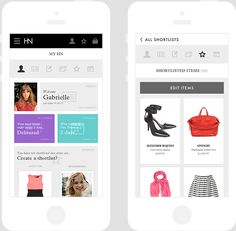 Harvey Nichols mobile by Andrew Couldwell, via Behance