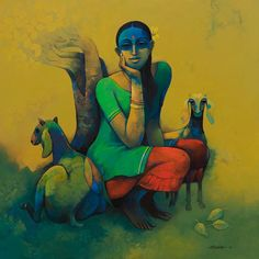 Mysterious and earthy 'Rural Life' by artist Sachin