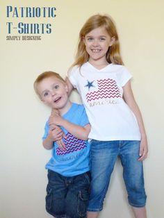 DIY Patriotic T-Shirts {Expressions Vinyl}