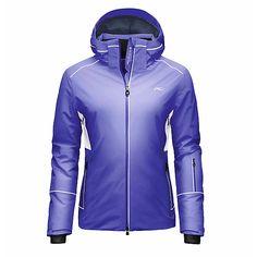 KJUS Formula Womens Insulated Ski Jacket, White-Black