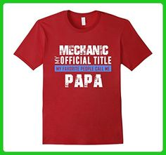 Mens Funny PAPA MECHANIC T shirts-My favorite people call me PAPA XL Cranberry - Relatives and family shirts (*Amazon Partner-Link)