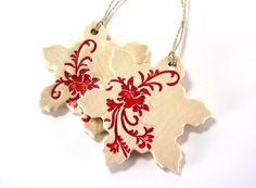ceramic snowflake christmas ornament holiday ornament gift