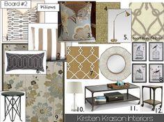 Living Room Design Board by kirstensue2, via Flickr
