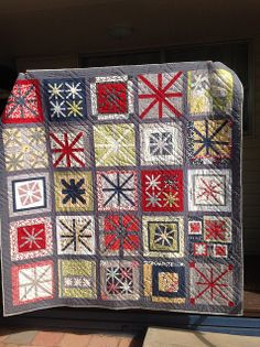 Asterisk Quilt | Flickr - Photo Sharing!  wow!  I like this!  Look!  It is different asterisk blocks some tilted.  some small and put together with 4 blocks. some with diff settings.  omg I love this!  mm