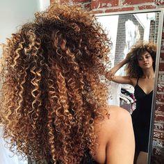 caramel honey curls