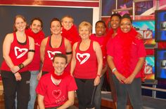 Local 12 honored National Wear Red Day with a Dance Party Friday with Bob Herzog.