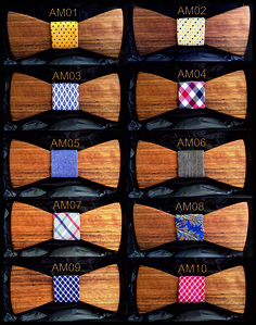 Wooden Bow Tie Amazaque Wood