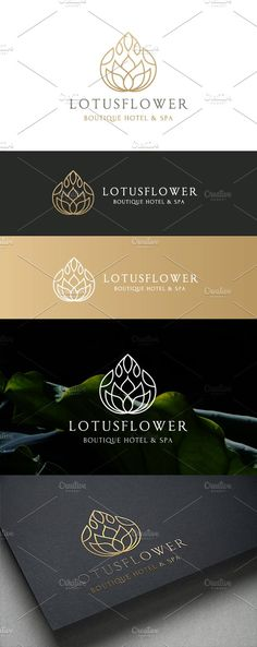 Lotus Logo by Super Pig Shop on @creativemarket