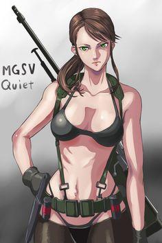 Quiet, Metal Gear Solid V: The Phantom Pain artwork by Monokuro Rabbit.
