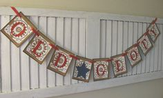 Patriotic Bunting Old Glory Banner Garland Swag by EncoreBanners