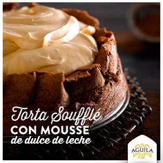 Torta soufflé con mousse de dulce de leche #chocolate