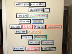 Would have to alter for a middle school language arts classroom but I love this!