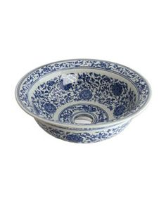 Blue And White Vessel Sink : + images about Blue and White Vessel Sinks on Pinterest Vessel sink ...