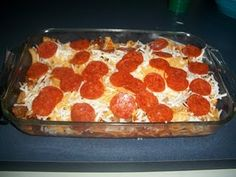 Pepperoni Pizza Casserole  WAS AWESOME