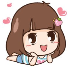 LINE Stickers Quby Sticker & Chaoneng,Smile at life.,Stickers,Animated Stickers,Example with GIF Animation Cute Love Gif, Cute Love Pictures, Cute Love Cartoons, Cute Cartoon, Black And White Chickens, Family Stickers, Little Rose, Sanrio Characters, Line Sticker