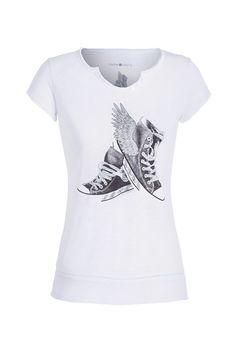 T-shirt motif sneakers ailées