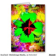 Good luck - Glücksbringer Kleeblatt Greeting Card