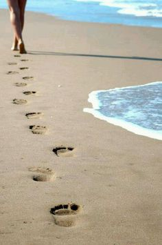 ..foot prints in the sand...