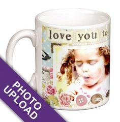 Personalised Mug - Photo Upload Love You to the Moon