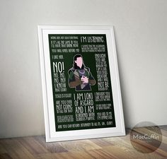Loki poster Made to order by MacGuffinDesigns on Etsy