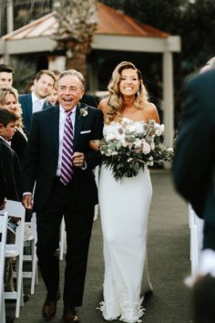 Must have wedding photo of the bride and father of the bride walking down the aisle. Adorable! (Gloria Goode Photography)
