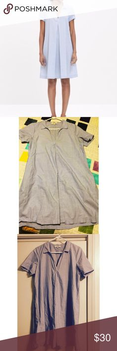 Madewell Chambray Shirt Dress Chambray Shirt Dress. Madewell. Worn once. Like new. Size: Medium. :) offers Welcome! Madewell Dresses Midi