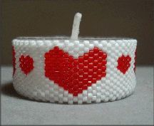 Heart Tea light Pattern at Bead-Patterns.com