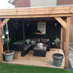 Backyard Gazebo, Backyard Seating, Small Backyard Patio, Backyard Landscaping, Outdoor Garden Rooms, Garden Yard Ideas, Patio Ideas, Back Garden Design, Budget Patio