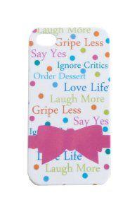 Amazon.com: Gretchen Scott Designs Laugh More iPhone 4/4s Cover: Cell Phones & Accessories