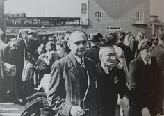 1942. Jewish citizens gather at the Muiderpoortstation in Amsterdam before their deportation to transit camp Westerbork. #amsterdam #worldwar2 #Muiderpoortstation