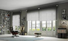 Free Interior Design, Contemporary Interior Design, Interior Design Services, Blinds For Large Windows, Beautiful Blinds, Bedroom Blinds, Master Bedroom, Blinds Design, Contemporary Floor Lamps
