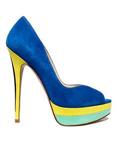 ENZO ANGIOLINI #platform #pumps #blue BUY NOW! #Macys #RiverchaseGalleria