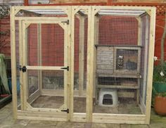 Bunny house made with aviary panels