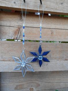 Stained Glass Snowflake Christmas by DesertGirlGlass on Etsy, $20.00