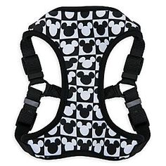 Mickey Mouse Checkered Comfort Harness for Dogs   Disney Store Mickey icons form the checkered design of this stylish comfort harness. The sturdy and stretchy construction features soft breathable mesh and fully adjustable nylon straps to insure a snug fit for your fluffy friend.