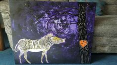 Painting for my brother and his wife for their wedding day. Notice the last name on the zebra (McCann). By Gail McCann, Zebras, Moose Art, Brother, Bee, Wedding Day, Gallery, Artwork, Painting, Animals