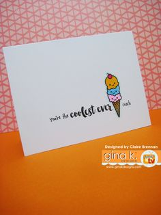 Another 'Coolest ever' card created with my 'So Cool' stamps now available from… Stamp Tv, Ice Cream Set, Handmade Tags, You Funny, Clear Stamps, Cardmaking, Projects To Try, Paper Crafts, Cool Stuff