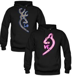 Browning Deer Love Couple Real Tree Camouflage Hoodie - TeeeShop