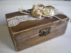 Rustic Ring Bearer Box-Wooden ring box Wooden by CraftStories