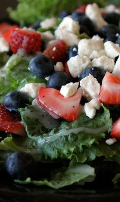 The Red White and Blue Sweet Summer Salad