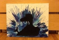 melted crayon art The Little Mermaid - WOW this was done well!