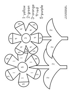 Flower Coloring Pages Preschool Beautiful Color by Number Flower Page School Numbers Preschool, Kindergarten Worksheets, Math Activities, Preschool Activities, Spring Coloring Pages, Flower Coloring Pages, Alphabet Letter Crafts, Letter Tracing, Preschool Garden
