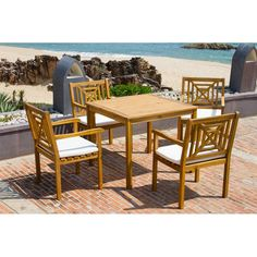Highland Dunes Radnor 5 Piece Dining Set with Cushion & Reviews | Wayfair 514$