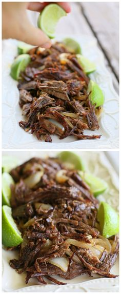 This Cuban Shredded Beef is moist, tender, and crispy on the outside. It's infused with orange and lime juice for a mojo flavor. www.the-girl-who-ate-everything.com