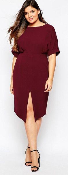 Plus Size Cut Out Back Dress: