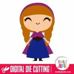 Check out this cute Frozen inspired princess Anna die cutting file. Digital die cutting files are designed specifically with cutting machine...