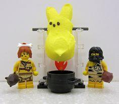 Peeps vs. LEGO: Hunter-Gatherer