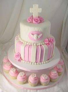 torta original para primera comunion de niña 2